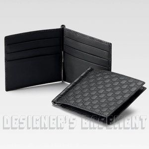 GUCCI black MICRO GUCCISSIMA money clip Wallet